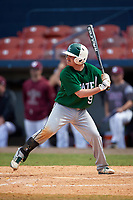 Farmingdale Rams second baseman Joshua Shapiro (9) at bat during a game against the Union Dutchmen on February 21, 2016 at Chain of Lakes Stadium in Winter Haven, Florida.  Farmingdale defeated Union 17-5.  (Mike Janes/Four Seam Images)