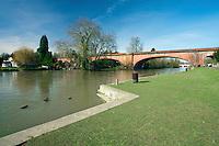 Railway bridge over the River Thames at Maidenhead, Berkshire, Uk