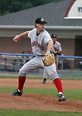 August 3, 2003:  Pitcher Logan Kensing of the Jamestown Jammers, Class-A affiliate of the Florida Marlins, during a NY-Penn League game at Dwyer Stadium in Batavia, NY.  Photo by:  Mike Janes/Four Seam Images
