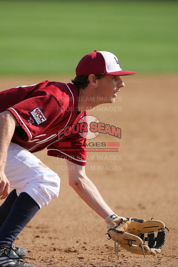 March 23, 2010: Brad Bauer of Loyola Marymount during game  against Cal. St. Fullerton at LMU in Los Angeles,CA.  Photo by Larry Goren/Four Seam Images