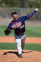 March 18, 2010:  Pitcher Edgar Ibarra (32) of the Minnesota Twins organization during Spring Training at the Ft. Myers Training Complex in Ft. Myers, FL.  Photo By Mike Janes/Four Seam Images