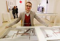 NAPOLI 21/03/2013 MUSEO PLART CERIMONIA DI PREMIAZIONE DELLA .VIII EDIZIONE DEL LUCKY STRIKE TALENTED DESIGNER AWARD ORGANIZZATO DALLA RAYMOND LOEWY  FOUNDATION.NELLA FOTO Tommaso Baj