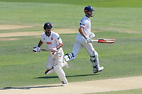 Ravi Bopara (L) and James Foster add to the Essex total during Essex CCC vs Warwickshire CCC, Specsavers County Championship Division 1 Cricket at The Cloudfm County Ground on 20th June 2017
