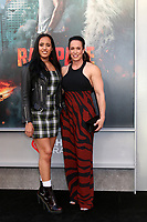 """LOS ANGELES - APR 4:  Simone Johnson, Dany Garcia at the """"Rampage"""" Premiere at Microsoft Theater on April 4, 2018 in Los Angeles, CA"""
