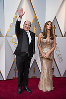 Oscar&reg; nominee for Best Original Score, Hans Zimmer and Suzanne Zimmer arrive on the red carpet of The 90th Oscars&reg; at the Dolby&reg; Theatre in Hollywood, CA on Sunday, March 4, 2018.<br /> *Editorial Use Only*<br /> CAP/PLF/AMPAS<br /> Supplied by Capital Pictures