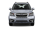 Car photography straight front view of a 2017 Subaru Forester 2.5i-Limited-CVT 5 Door SUV Front View