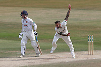 Peter Trego in bowling action for Somerset during Essex CCC vs Somerset CCC, Specsavers County Championship Division 1 Cricket at The Cloudfm County Ground on 28th June 2018