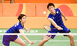 Kenta Kazuno &amp; Ayane Kurihara (JPN),<br /> AUGUST 11, 2016 - Badminton :<br /> Mixed Doubles Group Play<br /> at Riocentro - Pavilion 4<br /> during the Rio 2016 Olympic Games in Rio de Janeiro, Brazil. <br /> (Photo by Koji Aoki/AFLO SPORT)