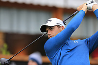 Haydn Porteous (RSA) tees off the 1st tee during Saturday's Round 3 of the 2017 Omega European Masters held at Golf Club Crans-Sur-Sierre, Crans Montana, Switzerland. 9th September 2017.<br /> Picture: Eoin Clarke | Golffile<br /> <br /> <br /> All photos usage must carry mandatory copyright credit (&copy; Golffile | Eoin Clarke)