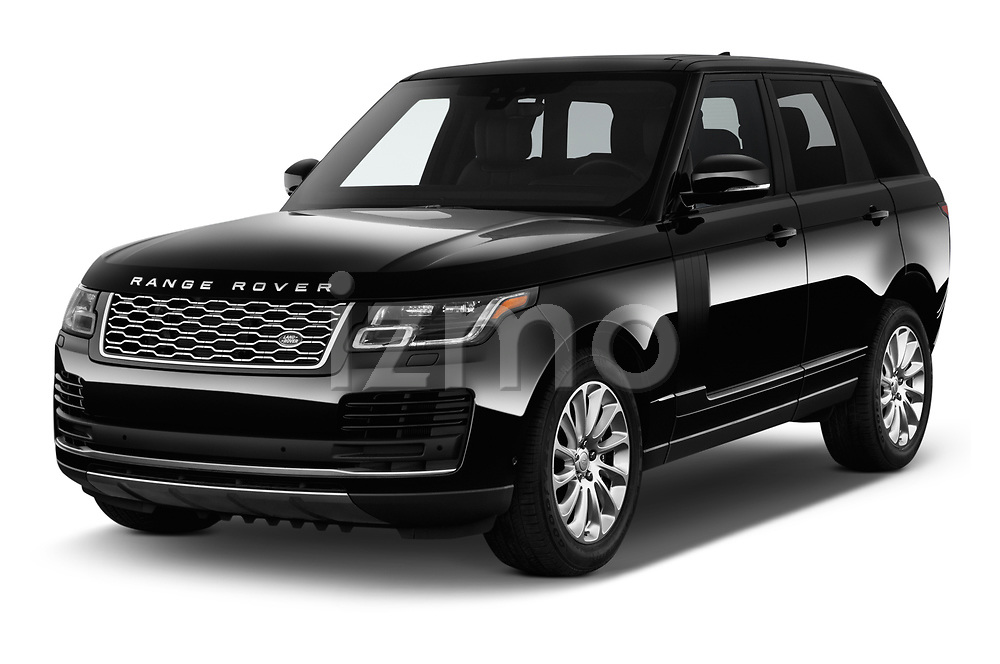 2019 Land Rover Range-Rover HSE 5 Door SUV angular front stock photos of front three quarter view
