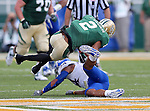 Baylor Bears wide receiver Terrance Williams (2) catches a pass over defender Kansas Jayhawks safety Bradley McDougald (24) during the game between the Kansas Jayhawks and the Baylor Bears at the Floyd Casey Stadium in Waco, Texas. Baylor leads Kansas 20 to 14 at halftime....