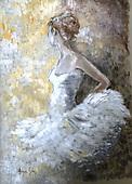 Addy, STILL LIFE STILLLEBEN, NATURALEZA MORTA, paintings+++++,GBAD123698,#i# ballet,young woman,