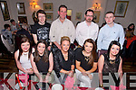 Special Birthday for Melissa Ryan Strand Road, at Cassidy's on Saturday. Pictured  front l-r Stephanie Nix, Sorcha Ryan, Melissa Ryan (Birthday Girl), Rachel Browne, Rebecca Ryan, Back  David Sweeney, Martin Nix, Joe Griffin, Peter Donoghue