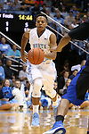 24 October 2014: North Carolina's Nate Britt. The University of North Carolina Tar Heels played the Fayetteville State University Broncos in an NCAA Division I Men's basketball exhibition game at the Dean E. Smith Center in Chapel Hill, North Carolina. UNC won the exhibition 111-58.