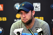 10th January 2018, ASB Tennis Centre, Auckland, New Zealand; ASB Classic, ATP Mens Tennis;  Jack Sock (USA) talks to media after his lost Peter Gojowczyk (GER) during the ASB Classic ATP Men's Tournament Day 3