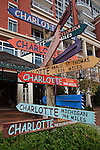 Charlotte NC - Playful sign in uptown Charlotte NC