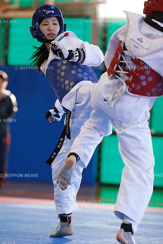 Miyu Yamada, MARCH 22, 2015 - Taekwondo : All Japan Taekwondo Championship, women's -49kg semi-final at Bumb Tokyo Sports Culture Center Main Arena in Tokyo, Japan. (Photo by Sho Tamura/AFLO SPORT)