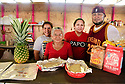 Antojitos Los Amigos de Norma serves Honduran food at the Westbank Nawlins Flea Market. Mildred Coindres, Maria Martinez, Norma and Carlos Rojas.