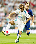Real Madrid's Luka Modric (l) and FC Barcelona's Ivan Rakitic during Supercup of Spain 2nd match. August 16,2017. (ALTERPHOTOS/Acero)