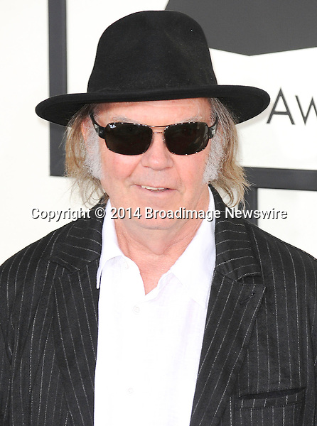 Pictured: Neil Young<br /> Mandatory Credit &copy; Adhemar Sburlati/Broadimage<br /> The Grammy Awards  2014 - Arrivals<br /> <br /> 1/26/14, Los Angeles, California, United States of America<br /> <br /> Broadimage Newswire<br /> Los Angeles 1+  (310) 301-1027<br /> New York      1+  (646) 827-9134<br /> sales@broadimage.com<br /> http://www.broadimage.com