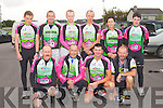 BALSKET BLAST: Member's of the Killarney cycling club who took part in the 2012 Chain Gang cycling club sportives Conor Pass Challenge and Blasket Blast at the Kerins O'Rahillys clubhouse, Tralee on Saturday front l-r: Tadgh Moynihan, Brendan Cassidy, Mike Kissane and Sean Slattery. Back l-r: Conor Kissane, Padraig Slattery, Mike O'Leary, John Joe Kissane, Patricia Leane and Benny Cassidy.