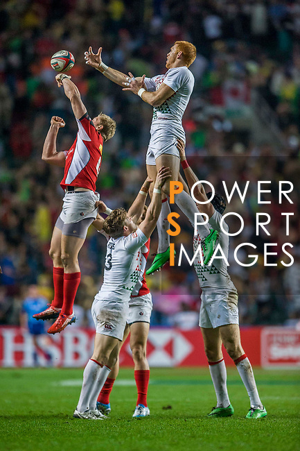 England vs Canada during the Cathay Pacific / HSBC Hong Kong Sevens at the Hong Kong Stadium on 29 March 2014 in Hong Kong, China. Photo by Juan Flor / Power Sport Images