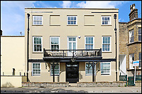 BNPS.co.uk (01202 558833)<br /> Pic: Riverhomes/BNPS<br /> <br /> Buy a bit of London Pride...Red Lion House was once the pub attached to the famous Fullers brewery in Chiswick.<br /> <br /> Yours for &pound;8million - Beer fans with deep pockets will want to get their hands on this famous former pub - as it's all but attached to the historic Fullers brewery by the Thames in Chiswick.<br /> <br /> Red Lion House, on exclusive Chiswick Mall in west London, was originally built as a pub more than 300 years ago for Thomas Mawson's brewery, which went on to become Fuller's in 1845.<br /> <br /> Back in the 18th and 19th centuries, the pub would have been a bustling hive of activity with boat crews and carters as regular customers, but it is now a tranquil and elegant riverside home.<br /> <br /> It does have an incredible wine cellar with a barrelled ceiling that is perfect for hosting parties if the new owners want to play publican.