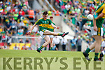 Sean O'Leary Kerry in action against  Clare in the Munster Minor Football Final at Fitzgerald Stadium on Sunday.