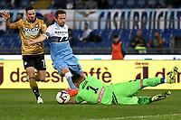Marco D'Alessandro of Udinese , Senad Lulic of Lazio , Juan Musso of Udinese <br /> Roma 17-4-2019 Stadio Olimpico Football Serie A 2018/2019 SS Lazio - Udinese <br /> Foto Andrea Staccioli / Insidefoto
