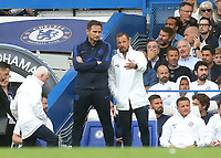 Chelsea Manager, Frank Lampard and Chelsea Assistant Manager, Jody Morris during Chelsea vs Sheffield United, Premier League Football at Stamford Bridge on 31st August 2019