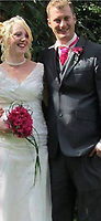 Pictured: Hollie Kerrell when she got married husband Christopher (Chris)<br /> Re: Christopher Kerrell, 35 has appeared before a judge at Cardiff Crown Court, charged with murdering Hollie Kerrell, a mother of three who had been missing for four days at Knighton, mid Wales, UK.<br /> <br /> Kerrell, who lives at the Whitton area, Knighton, Powys, was charged with killing Hollie Kerrell, 28, when he appeared before Merthyr Magistrates on Sunday.<br /> <br /> The body of Ms Kerrell, also of Knighton, was discovered at a farm four days after her disappearance.