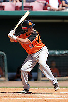 Netherlands National Team batter Gyenuar Lopez #12 during a spring training exhibition game against the Tampa Bay Rays at Al Lang Field on March 18, 2012 in St. Petersburg, Florida.  Tampa Bay defeated the Netherlands 4-3.  (Mike Janes/Four Seam Images)