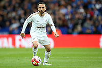 Leon Britton of Swansea City during the Barclays Premier League match between Leicester City and Swansea City played at The King Power Stadium, Leicester on April 24th 2016
