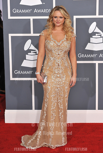 Miranda Lambert at the 54th Annual Grammy Awards at the Staples Centre, Los Angeles..February 12, 2012  Los Angeles, CA.Picture: Paul Smith / Featureflash