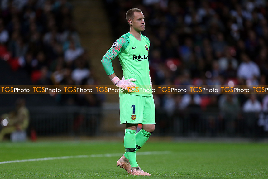 Marc-Andre ter Stegen of FC Barcelona during Tottenham Hotspur vs FC Barcelona, UEFA Champions League Football at Wembley Stadium on 3rd October 2018