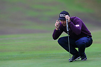 Padraig Harrington (IRL) on the 1st green during Round 4 of the Sky Sports British Masters at Walton Heath Golf Club in Tadworth, Surrey, England on Sunday 14th Oct 2018.<br /> Picture:  Thos Caffrey | Golffile