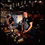 Chef Gabriel Rucker at his restaurant, Le Pigeon, in Southeast Portland, Oregon