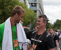 22-05-11, Tennis, France, Paris, Roland Garros, Thomas Schoorel met zijn coach Stephan Ehritt Vanc