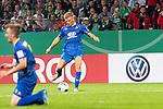 10.08.2019, wohninvest Weserstadion, Bremen, GER, DFB-Pokal, 1. Runde, SV Atlas Delmenhorst vs SV Werder Bremen<br /> <br /> DFB REGULATIONS PROHIBIT ANY USE OF PHOTOGRAPHS AS IMAGE SEQUENCES AND/OR QUASI-VIDEO.<br /> <br /> im Bild / picture shows<br /> Tom Schmidt (SV Atlas Delmenhorst #08) erzielt das 1:2 <br /> <br /> Foto © nordphoto / Kokenge