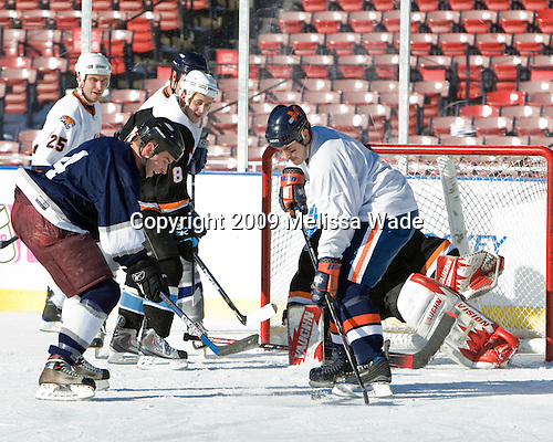 ?, Justin Dziama, James Russo, John Smith Sullivan - Ice Hockey at Fenway Park on Tuesday, December 22, 2009, in Boston, Massachusetts.