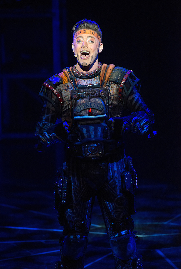 Andrew Lloyd Webber&rsquo;s electrifying musical-on-roller-skates, STARLIGHT EXPRESS, has its South East Asia Premiere at the Lyric Theatre, Hong Kong Academy for Performing Arts tonight.<br /> Kristofer Harding in the role of Rusty the steam train.