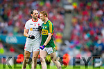 Colm Cooper, Kerry in Action Against Ronan McNabb, Tyrone in the All Ireland Semi Final at Croke Park on Sunday.