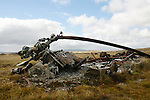 wreck of a argentine crashed helicopter left over from the Falklands 10 km east from stanley