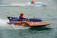 """Kevin Klosterman, S-07 """"Blue Chip"""", 145 class hydroplane..10-12 July, 2009, 100th Gold Cup, Detroit River, Detroit, MI USA..©2009 F.Peirce Williams, USA."""