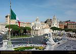 Piazza Venezia Palazzo Generali Santa Maria di Loreto Santissimo Nome di Maria Trajan's Column Trajan's Forum from Victor Emmanuel II Monument Rome