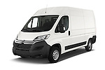 2015 Citroen JUMPER L2H2 5 Door Cargo Van Angular Front stock photos of front three quarter view