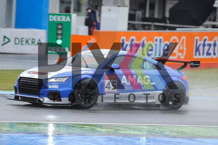 # 45 Joonas Lappalainen (FIN)  beim Qualiyfing der Audi Sport TT Cup Hockenheimring.<br /> <br /> Foto &copy; P-I-X.org *** Foto ist honorarpflichtig! *** Auf Anfrage in hoeherer Qualitaet/Aufloesung. Belegexemplar erbeten. Veroeffentlichung ausschliesslich fuer journalistisch-publizistische Zwecke. For editorial use only.