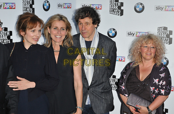 LONDON, ENGLAND - JUNE 07: Katherine Parkinson,  guest, Stephen Rea &amp; Abi Bach attend the South Bank Sky Arts Awards 2015, The Savoy Hotel, The Strand, on Sunday June 07, 2015 in London, England, UK. <br /> CAP/CAN<br /> &copy;CAN/Capital Pictures