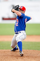 June 21, 2009:  Pitcher Zach Anderson of the Auburn Doubledays delivers a pitch during a game at Dwyer Stadium in Batavia, NY.  The Doubledays are the NY-Penn League Short-Season A affiliate of the Toronto Blue Jays.  Photo by:  Mike Janes/Four Seam Images