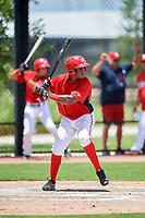GCL Nationals right fielder Landerson Pena (7) at bat during a game against the GCL Mets on August 4, 2018 at FITTEAM Ballpark of the Palm Beaches in West Palm Beach, Florida.  GCL Nationals defeated GCL Mets 7-4.  (Mike Janes/Four Seam Images)